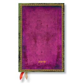 Mini Paperblanks Old Leather Classics 2019 Diary Byzantium Horizontal Week-to-View - 1