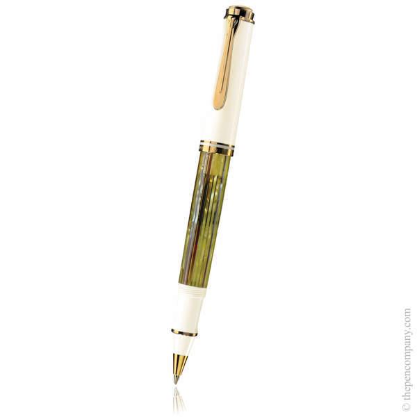 Tortoiseshell-White Pelikan Souverän 400 Rollerball Pen