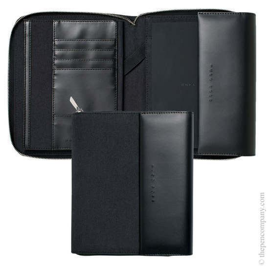 Dark Grey A5 Hugo Boss Advance Conference Folder - 1