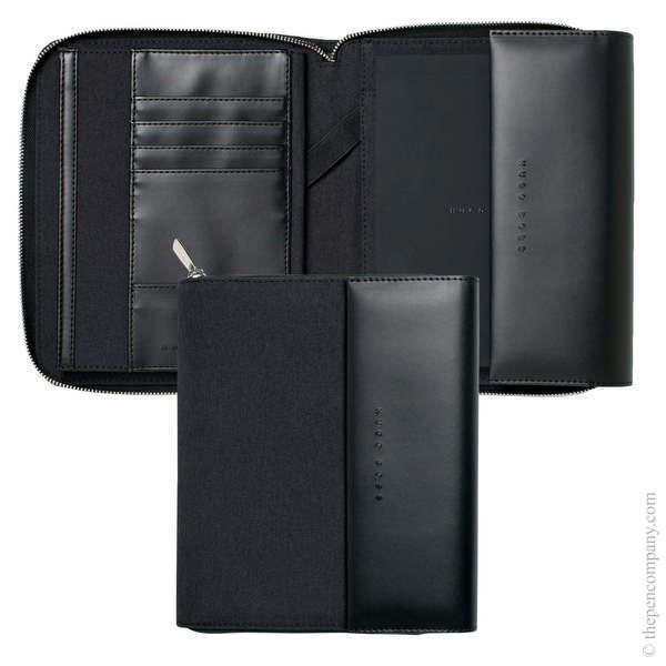 A5 Dark Grey Hugo Boss Advance Conference Folder