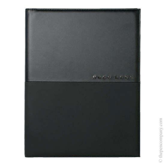 Black A5 Hugo Boss Caption Contrast Folder - 1