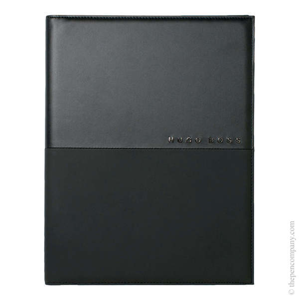A5 Black Hugo Boss Caption Contrast Folder