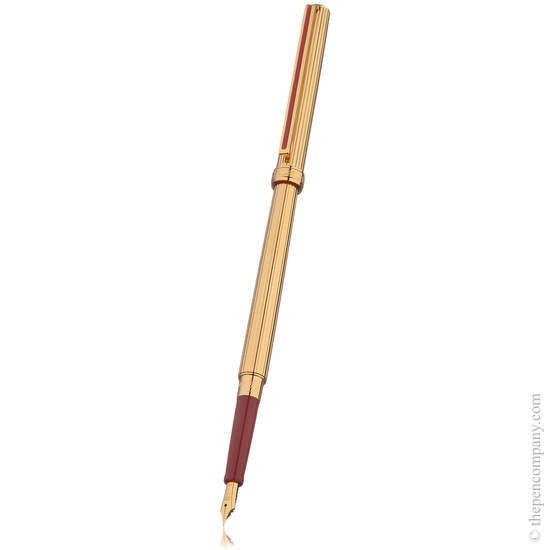 Gold/Maroon Stripe Sailor Chalana Fountain Pen - Extra Fine Nib - 2