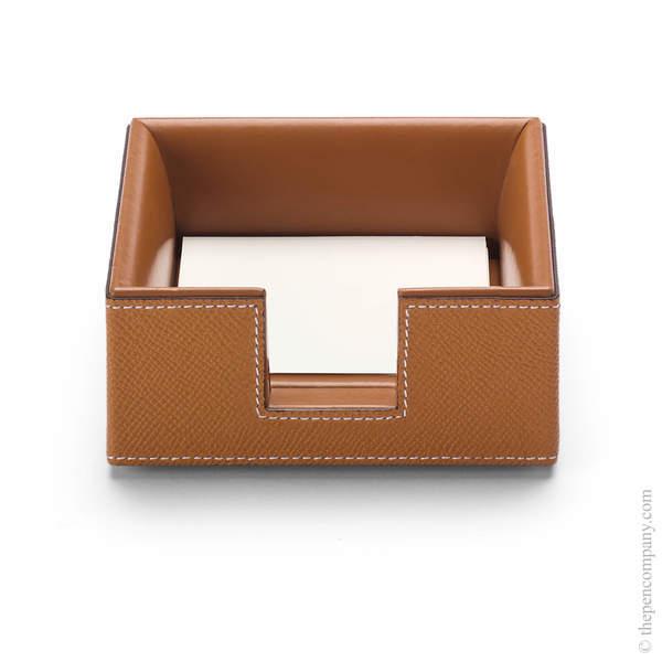 Cognac Graf von Faber-Castell Pure Elegance Notelet Box Notelet Box