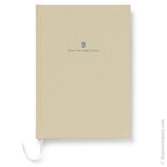 Golden Brown A5 Graf von Faber-Castell Linen Notebook - 1