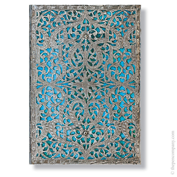 Midi Paperblanks Silver Filigree Address Book Address Book