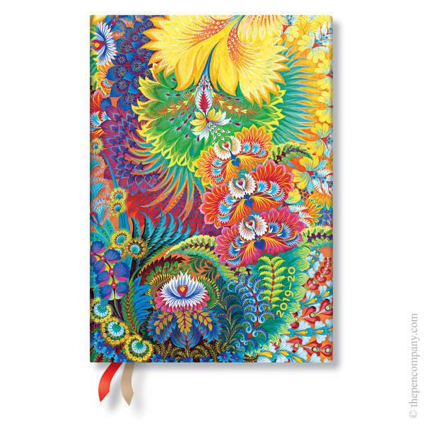 Midi Paperblanks Olenas Garden Flexi 2019-2020 18 Month Diary Academic Diary Dayspring Horizontal Week-to-View