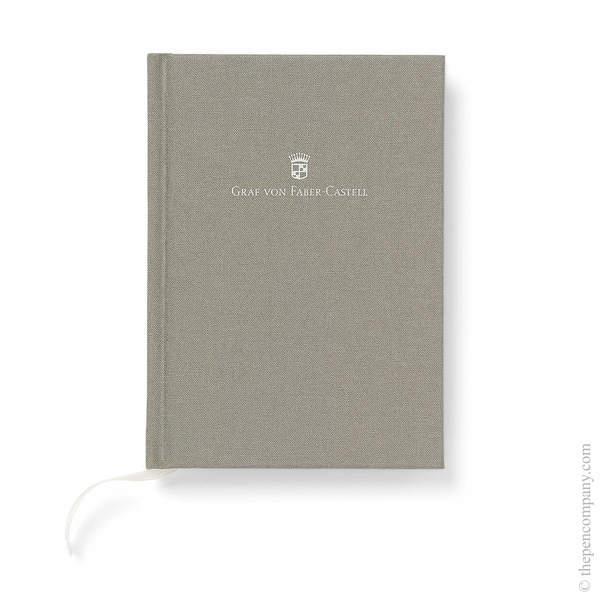 A6 Grey Graf von Faber-Castell Linen Notebook Journal