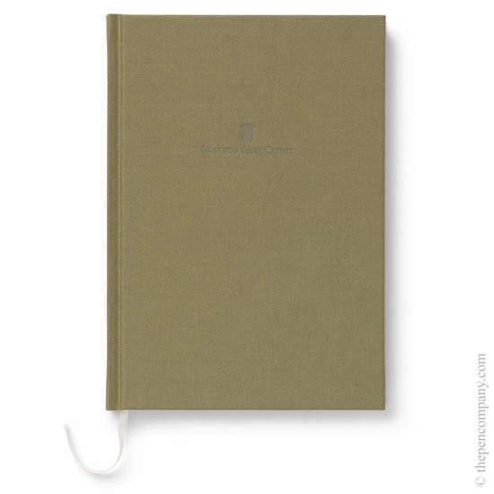 Olive Green A5 Graf von Faber-Castell Linen Notebook - 1