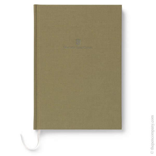 A5 Olive Green Graf von Faber-Castell Linen Notebook Journal