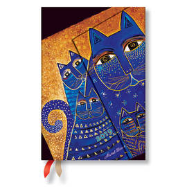 Mini Paperblanks Fantastic Felines 2019 Diary Mediterranean Cats Verso Week-to-View - 1