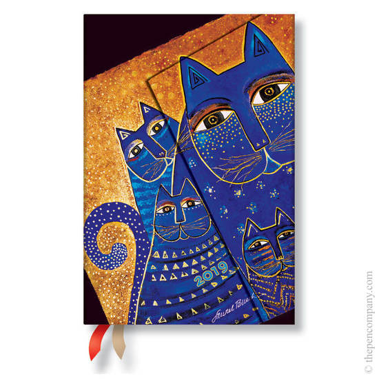 Mini Paperblanks Fantastic Felines 2019 Diary Mediterranean Cats Horizontal Week-to-View - 1