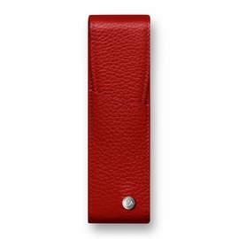 Red Caran d Ache Leman Pen Case for Two Pens - 1