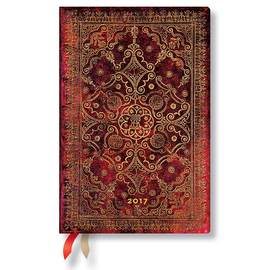 Paperblanks Mini Day-at-a-Time Equinoxe Carmine 2017 Diary - 1