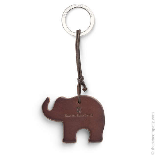 Dark Brown Graf von Faber-Castell Elephant Key Ring - 1