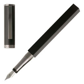 Black Hugo Boss Bauhaus Fountain Pen - 1