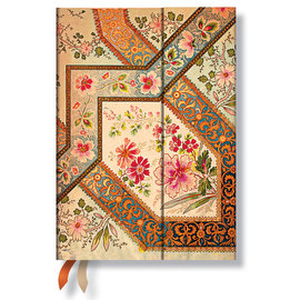 Paperblanks Filigree Floral Ivory Midi 2016 Horizontal Diary - 1