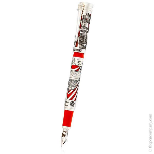 Silver Montegrappa Monopoly 85th Anniversary Fountain Pen - Medium