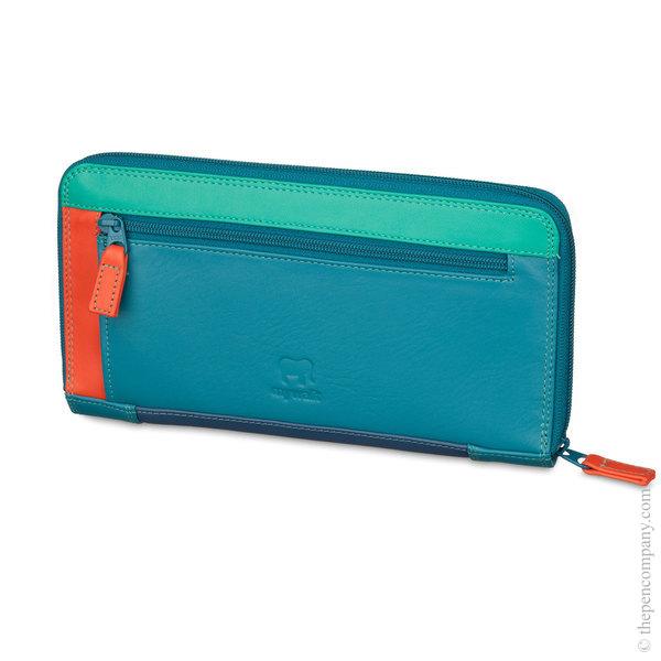 Aqua Mywalit Large Zip Around Wallet/ Purse