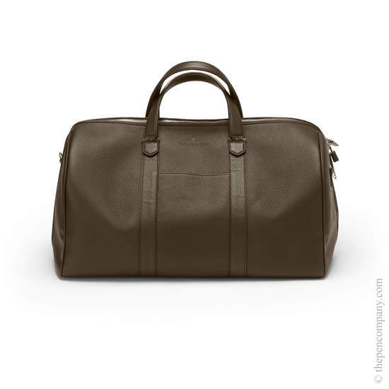 Dark Brown Graf von Faber-Castell Cashmere Weekender Bag - 1