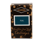 Teal Diamine Fountain Pen Ink Cartridges - 3