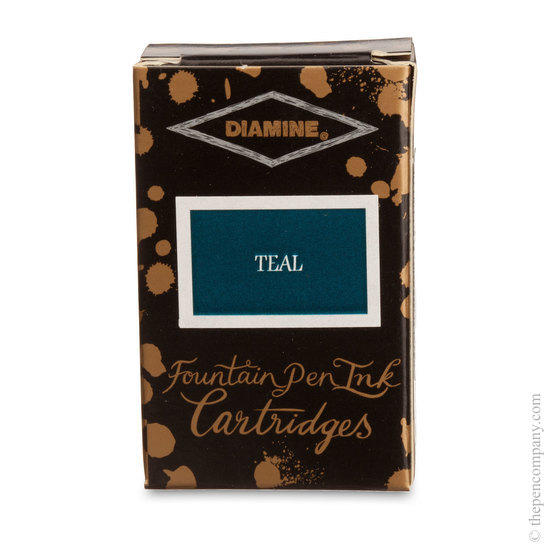 Teal Diamine Fountain Pen Ink Cartridges - 3