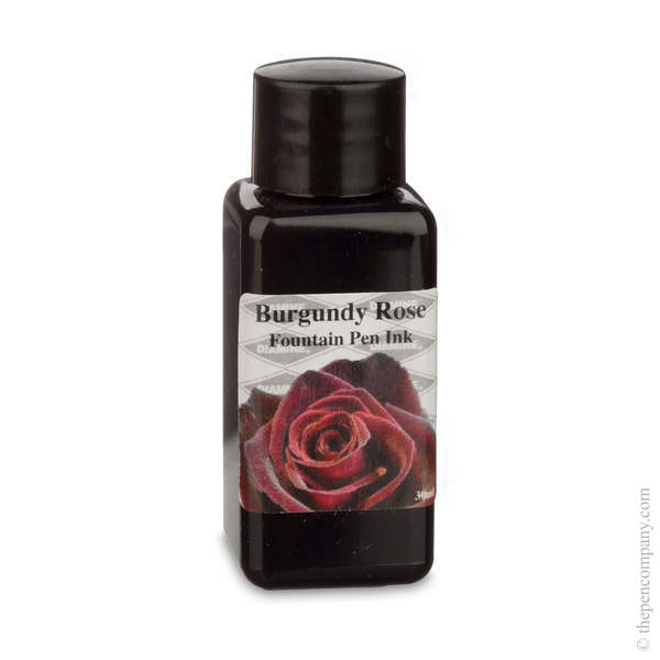 Burgundy Rose Diamine Bottled Flower Collection Fountain Pen Ink Refills