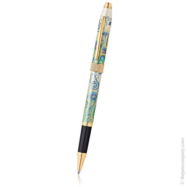 Green Daylily Cross Botanica Rollerball Pen
