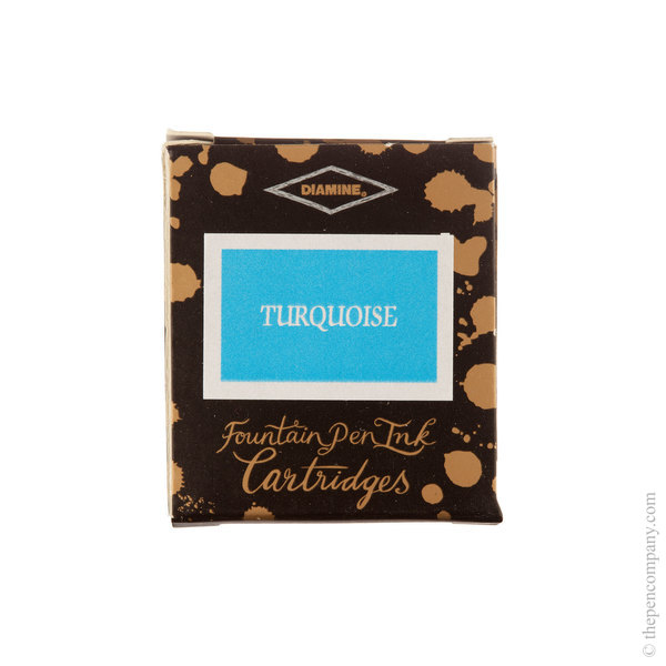 Turquoise Diamine Fountain Pen Ink Cartridges Pack of 6