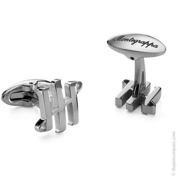 Steel Montegrappa Ambigram Cufflinks