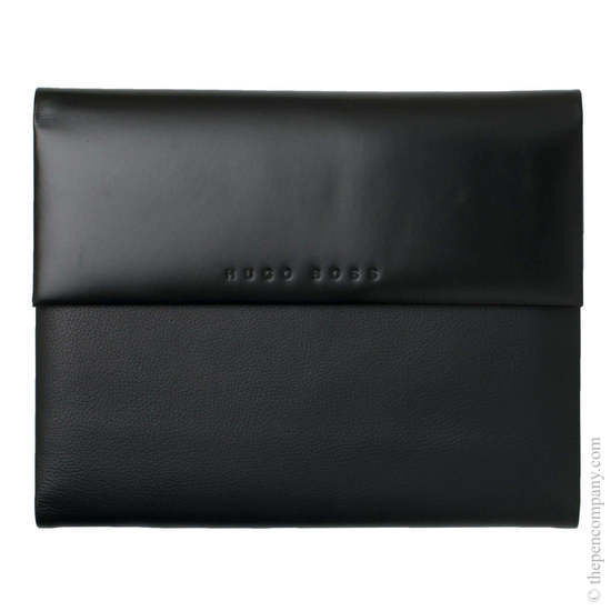 Black A5 Hugo Boss Caption Contrast Conference Folder - 1