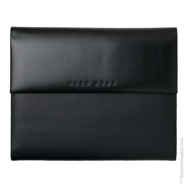 A5 Black Hugo Boss Caption Contrast Conference Folder