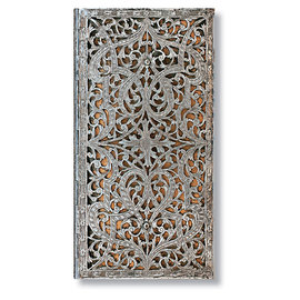Slim Paperblanks Silver Filigree Natural Address Book - 1