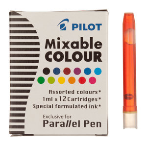 Parallel Pen Ink Cartridges Pack of 12 Assorted Colours - 1