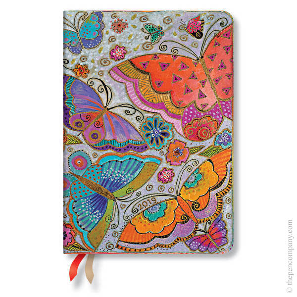 Midi Paperblanks Flutterbyes 2019 Diary Verso Week-to-View