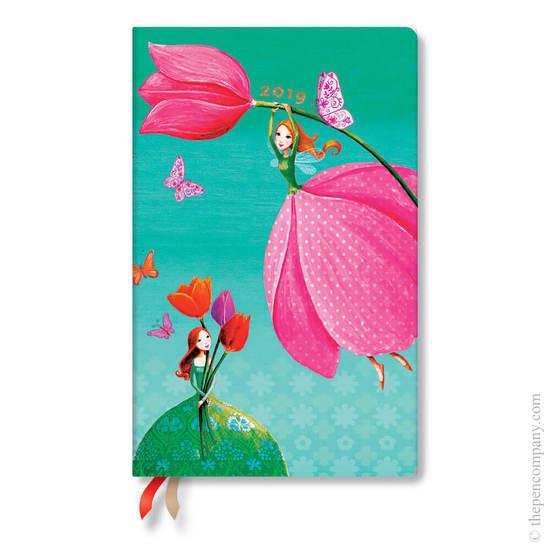 Maxi Paperblanks Mila Marquis 2019 Diary Joyous Springtime Horizontal Week-to-View - 1