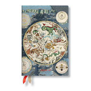 Paperblanks Celestial Planisphere Early Cartograpy Academic Diary Mini