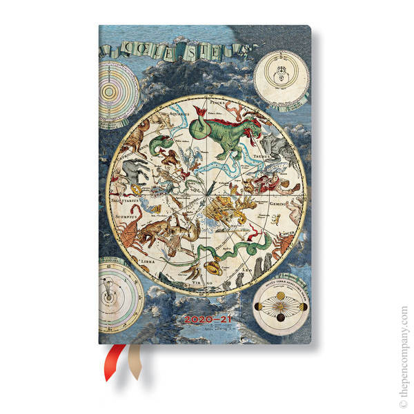 Mini Paperblanks Early Cartography 2020-2021 18 Month Diary Academic Diary