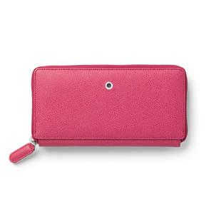 Electric Pink Graf von Faber-Castell Epsom Leather Ladies Purse with Zip Wallet - 1