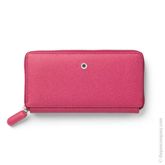 Electric Pink Graf von Faber-Castell Epsom Leather Ladies Purse with Zip Wallet - 1