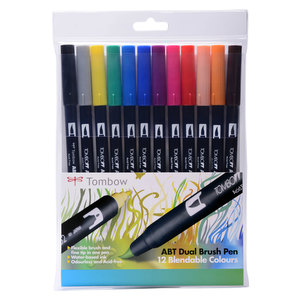 Tombow ABT 12 brush pen set - primary - 1