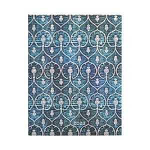 Paperblanks Blue Velvet Blue Velvet 2022 Diary Ultra - Front