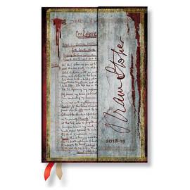 Mini Paperblanks Embellished Manuscripts 2018-2019 18 Month Diary Bram Stoker, Dracula Horizontal We