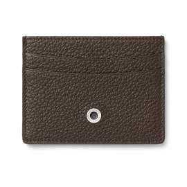 Dark Brown Graf von Faber-Castell Credit Card Holder Double-Sided - 1