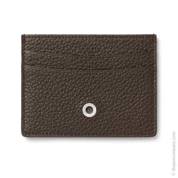 Dark Brown Graf von Faber-Castell Cashmere Credit Card Holder Double-Sided