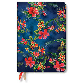 Midi Aloha 2017-2018 18 Month Diary Laulima Horizontal Week-to-View - 1