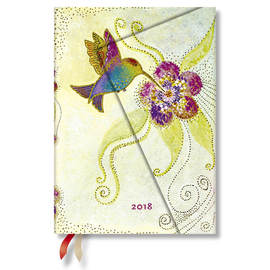 Midi Paperblanks Laurel Burch Whimsical Creations 2018 Diary Hummingbird Day-to-View - 1
