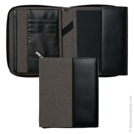 Light Grey A5 Hugo Boss Advance Conference Folder - 6
