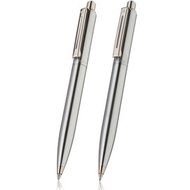 Sheaffer sentinel brushed chrome ballpoint pen and pencil set - 1