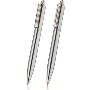 Sheaffer sentinel brushed chrome ballpoint pen and pencil set - 1